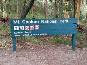 Mount Coolum National Park walking track sign